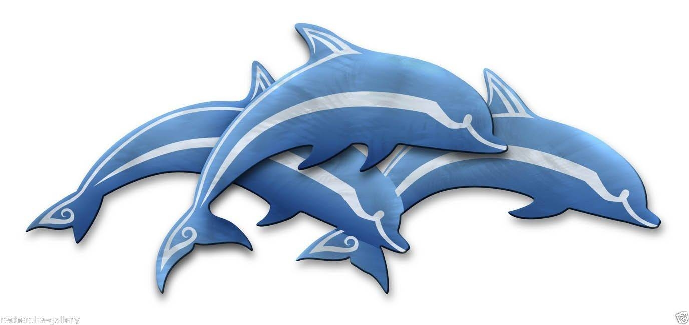 Abstract Metal Wall Art Dolphin Podartist Ash Carl Pertaining To Most Popular Dolphin Metal Wall Art (View 15 of 25)
