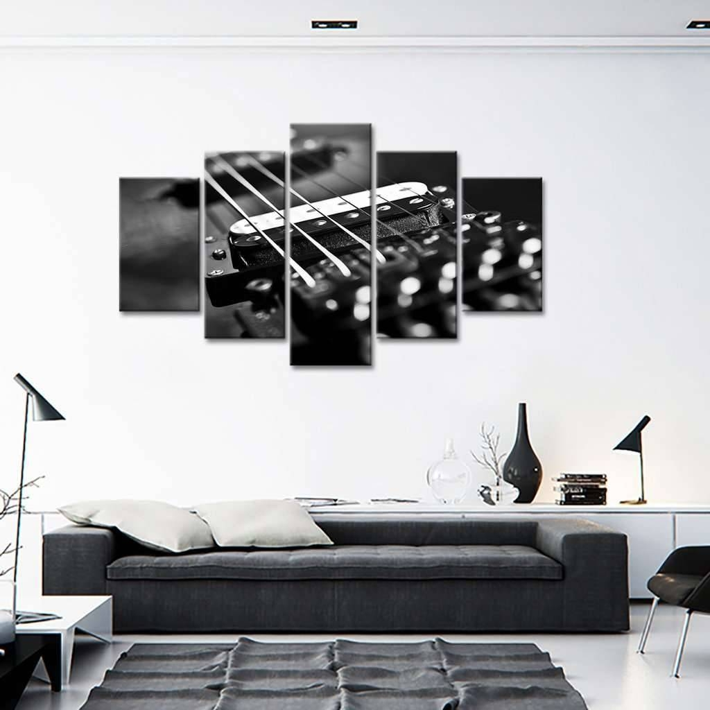 Acoustic Guitar Strings Wall Art Multi Panel Canvas – Mighty Paintings Intended For Latest Guitar Canvas Wall Art (View 10 of 20)