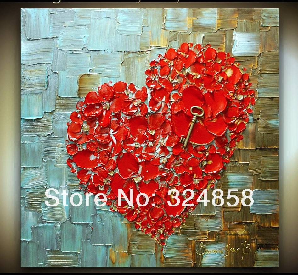 Acrylic White Peacock Abstract Palette Knife Modern Oil Painting Throughout Newest Red Cherry Blossom Wall Art (View 3 of 30)