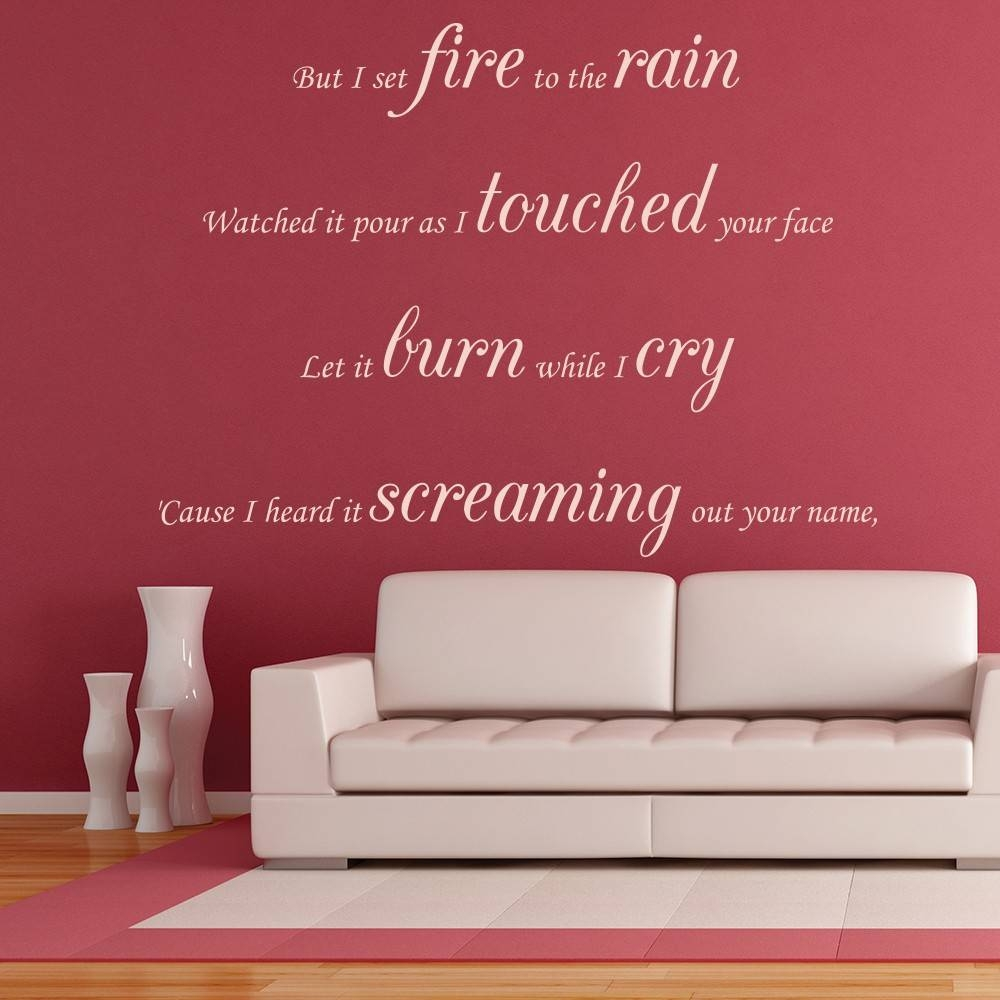 Adele – Pop – Song Lyrics – Wall Quotes With Regard To Most Recent Music Lyrics Wall Art (View 2 of 20)