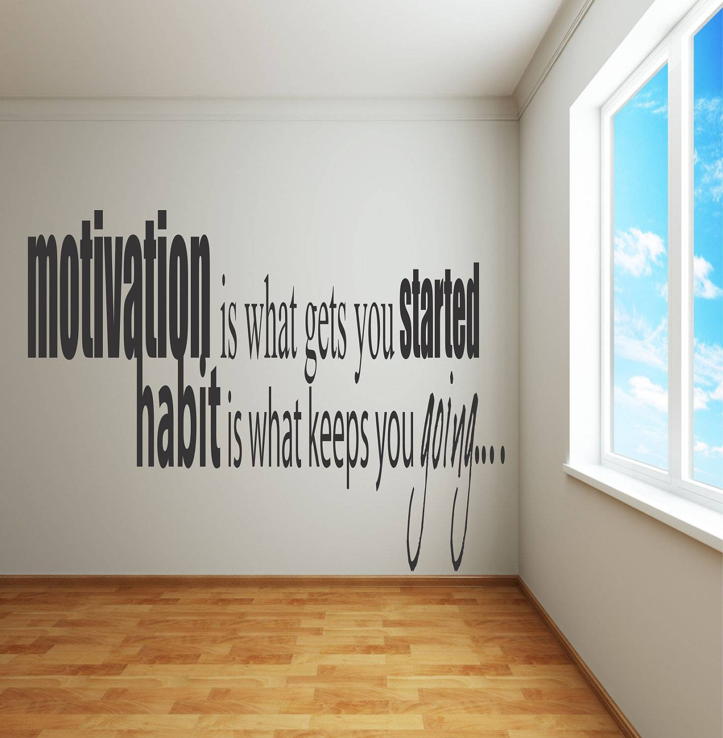 Adhesive Wall Decals Motivation Is What Gets You Within Most Current Inspirational Wall Decals For Office (View 1 of 20)