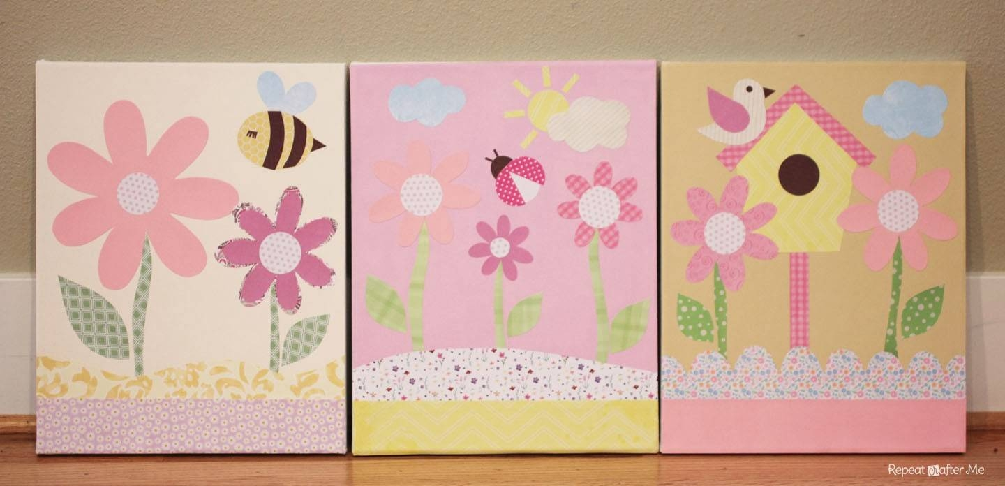 Affordable Art For The Nursery Project Nursery Canvas Art Make Pertaining To Recent Kids Canvas Wall Art (View 1 of 20)