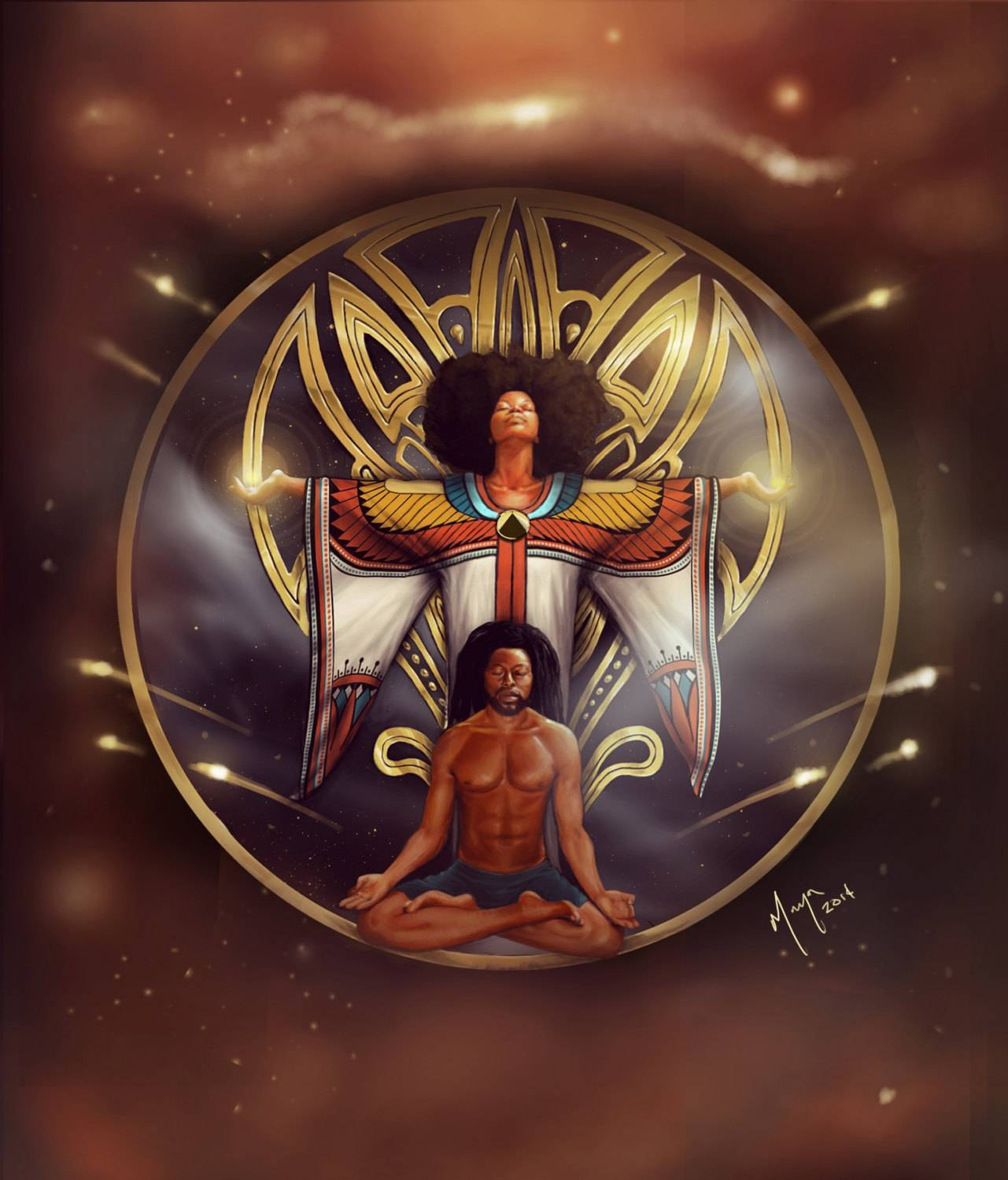 African American Wall Art Kemetic Egyptian Maat Meditation In Most Current African American Wall Art (View 7 of 20)
