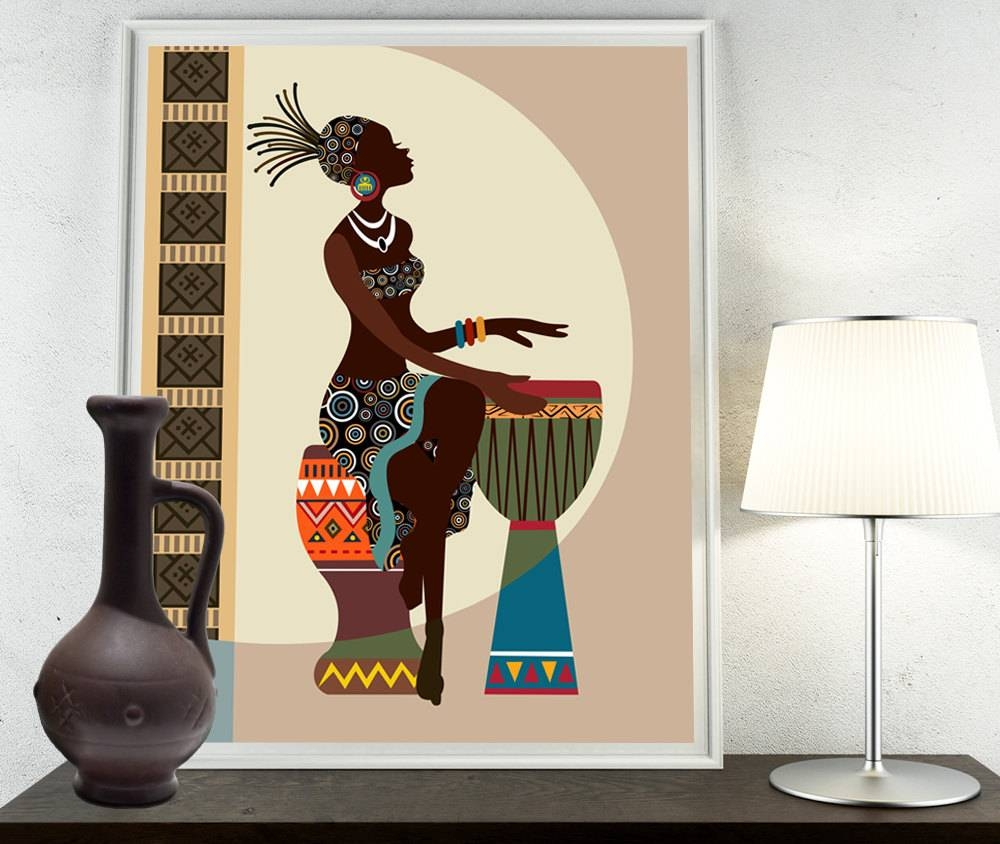 African Art, African American Wall Art, African Woman, African Art With Regard To Most Recently Released African American Wall Art And Decor (View 4 of 20)