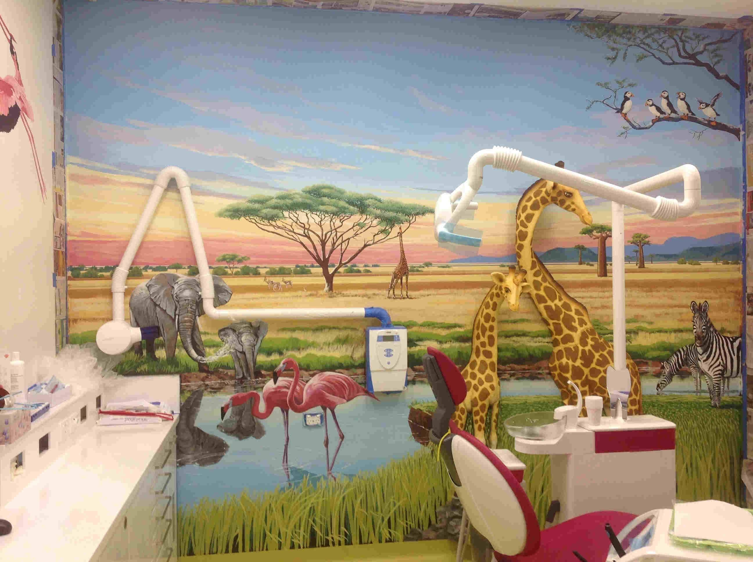 African Safari – Genlte Dental Wetherill Park – Muralart For Newest Wetherill Park 3D Wall Art (View 5 of 20)