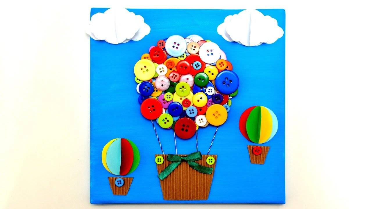 Air Balloon 3d Canvas Art Craft – Diy Handmade Wall Room Decor With Current Air Balloon 3d Wall Art (View 17 of 20)