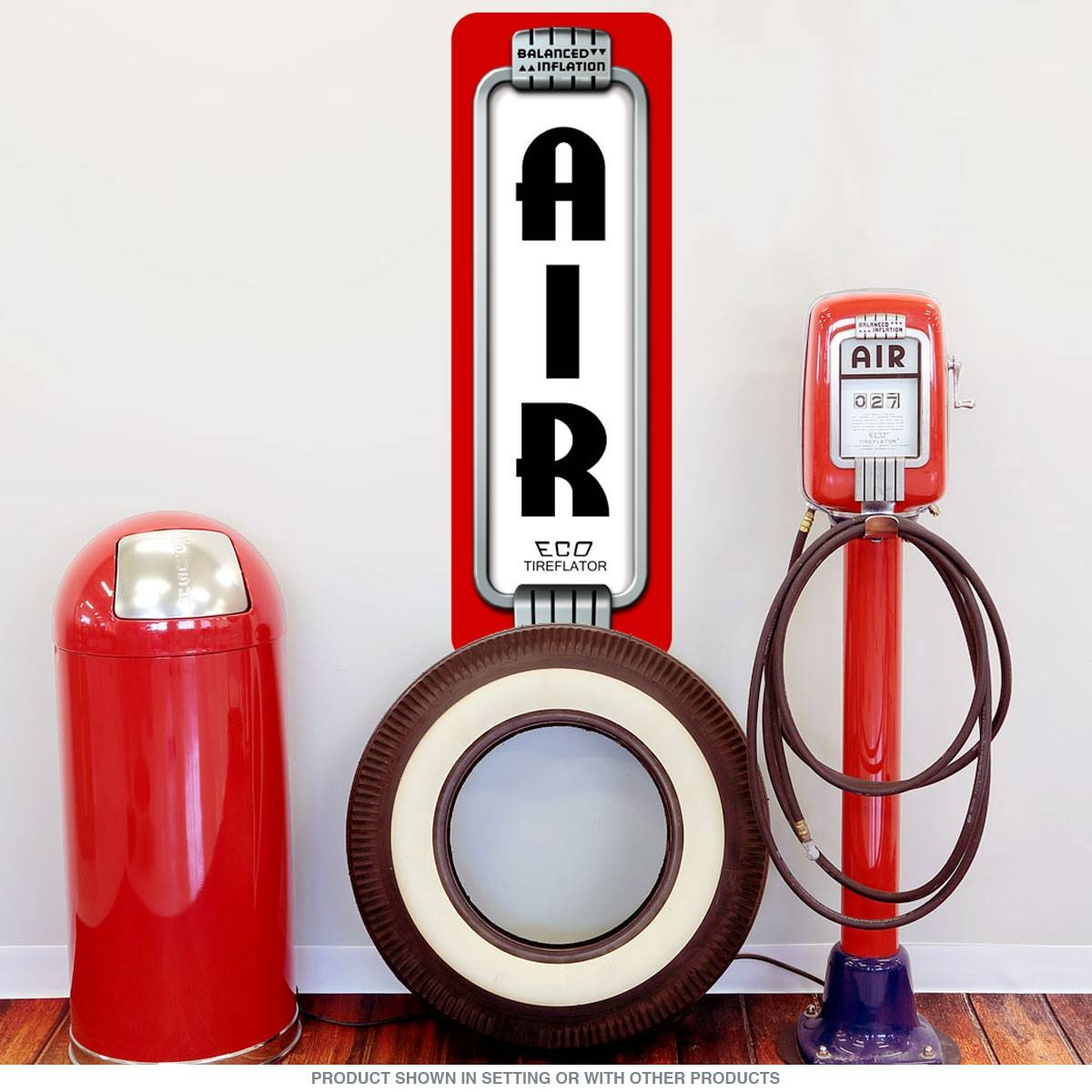 Air Pump Art Deco Gas Station Wall Decal | Garage Decor Regarding 2018 Art Deco Wall Decals (View 16 of 20)