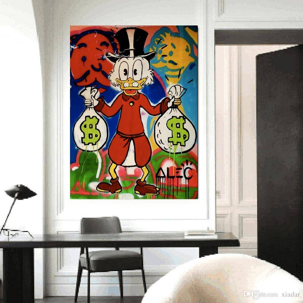 Alec Monopoly Cute Animal Canvas For Wall Art Decoration For Home Within Best And Newest Animal Canvas Wall Art (View 14 of 20)