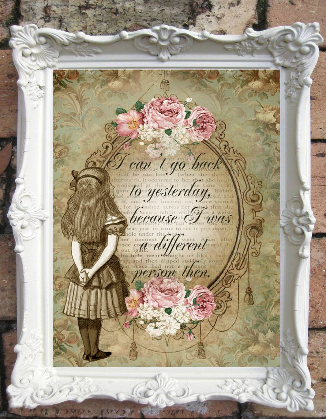 Alice In Wonderland Quote Art Print (View 3 of 30)