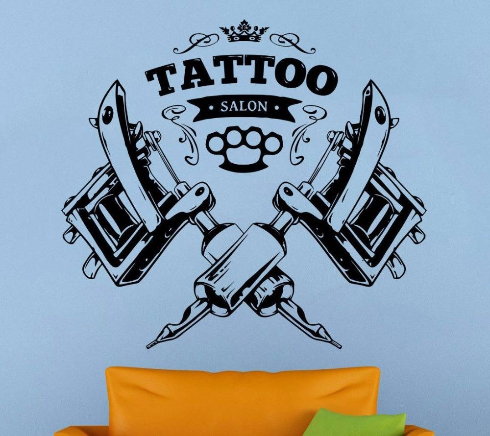 Aliexpress : Buy 2017 New Tattoo Salon Wall Decal Tattoo Intended For Latest Tattoo Wall Art (View 2 of 20)