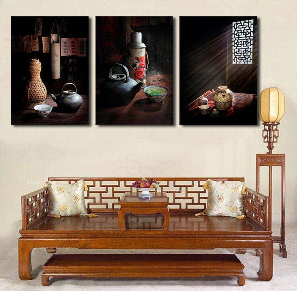 Aliexpress : Buy 3 Pcs Vintage Country Life Painting Canvas Throughout 2017 Country Canvas Wall Art (View 15 of 20)