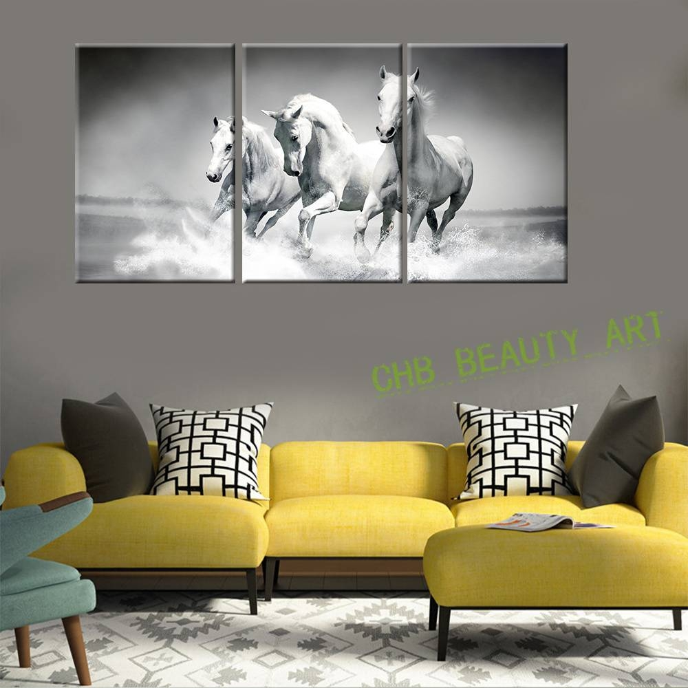 Aliexpress : Buy 3 Piece Modern Wall Art Painting Canvas White Pertaining To Newest 3 Piece Modern Wall Art (View 9 of 20)