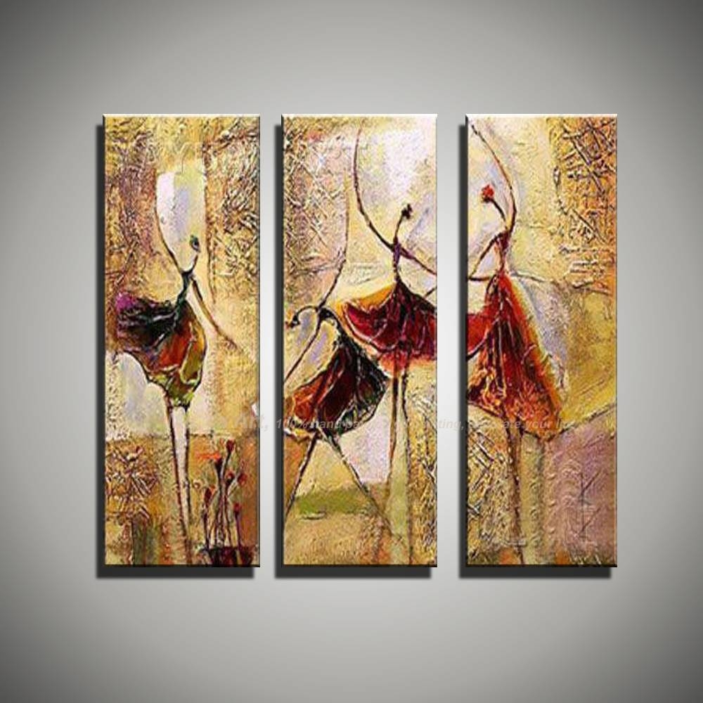 Aliexpress : Buy 3 Piece Wall Art Art Paintings Ballerina In Newest 3 Piece Wall Art (View 9 of 30)