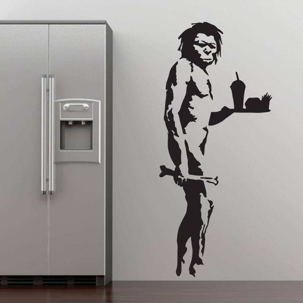 Aliexpress : Buy Banksy Fast Food Caveman Graffiti Wall Art In Most Recent Graffiti Wall Art Stickers (View 3 of 30)