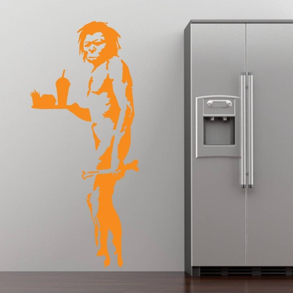 Aliexpress : Buy Banksy Fast Food Caveman Graffiti Wall Art Within Latest Graffiti Wall Art Stickers (View 4 of 30)
