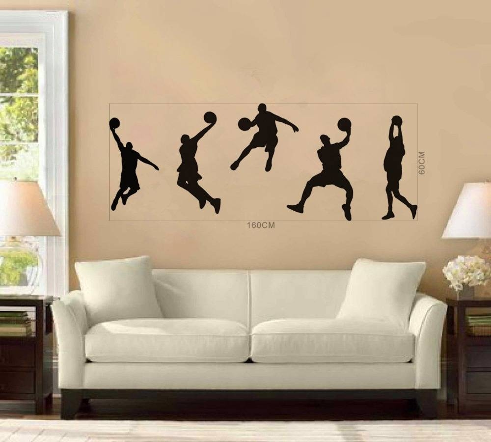 Aliexpress : Buy Basketball Players Nba Games Vinyl Removable With Regard To Best And Newest Nba Wall Murals (View 5 of 25)