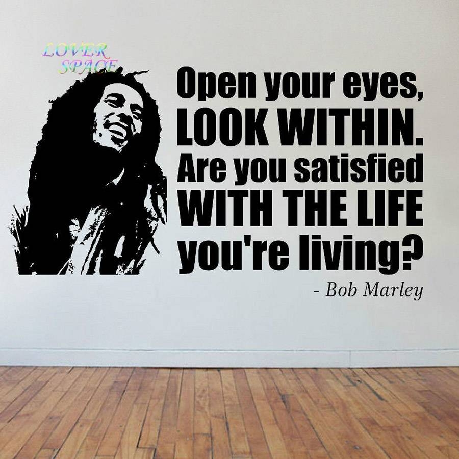 Aliexpress : Buy Bob Marley Face & Quote Vinyl Sticker Decal With Regard To Latest Bob Marley Wall Art (View 2 of 30)