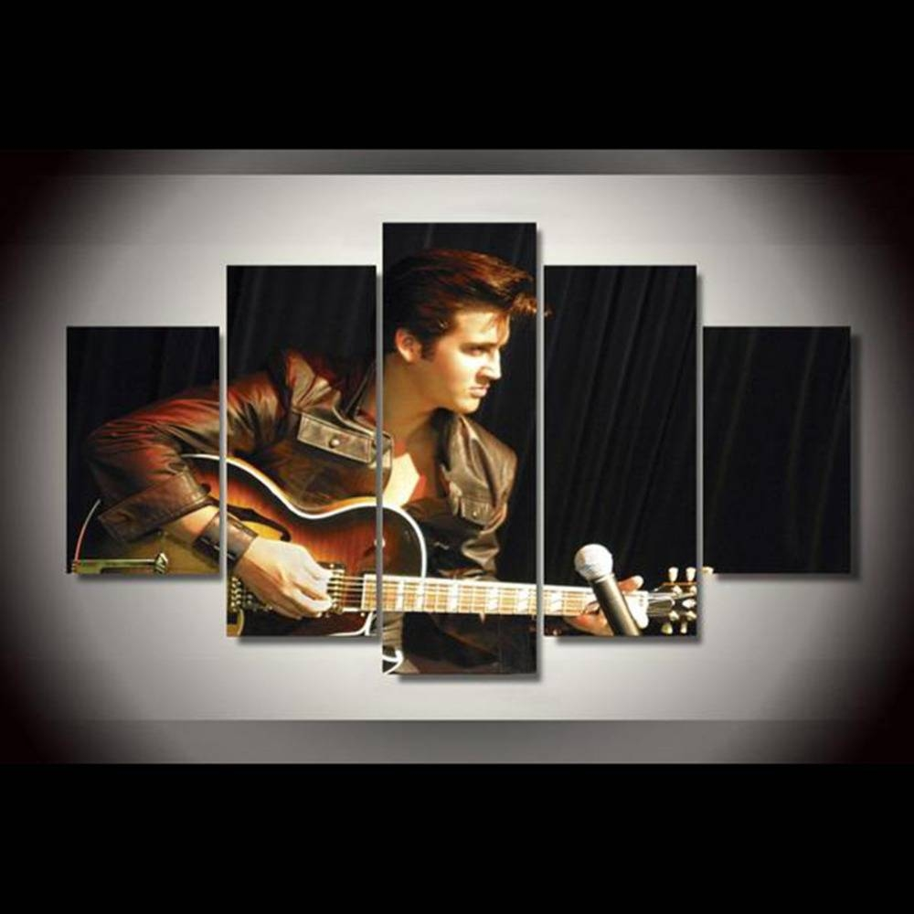 Aliexpress : Buy Canvas Painting New 5 Pieces/sets Canvas Art Throughout Recent Guitar Canvas Wall Art (View 11 of 20)
