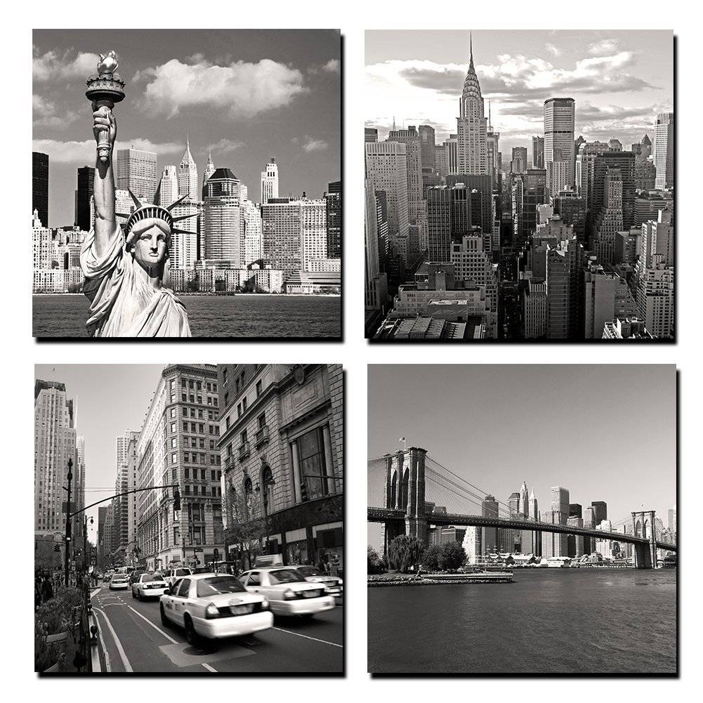 Aliexpress : Buy Canvas Painting Wall Art 4 Panel New York With 2018 New York City Wall Art (View 2 of 20)
