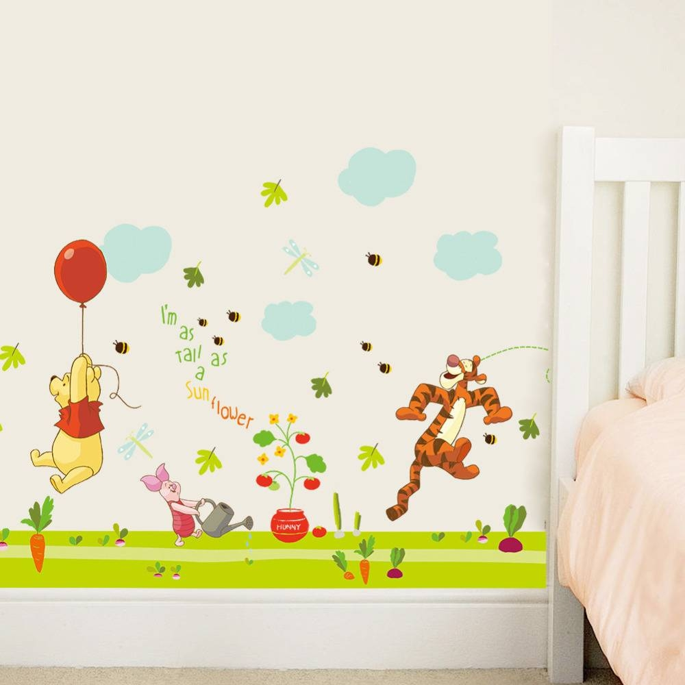 Aliexpress : Buy Cartoon Winnie The Pooh Wall Stickers For Pertaining To Best And Newest Winnie The Pooh Wall Art (View 14 of 20)