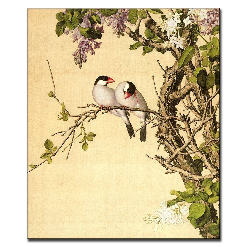 Aliexpress : Buy Chinoiserie Canvas Modern Wall Painting Oil Within Best And Newest Chinoiserie Wall Art (View 18 of 30)