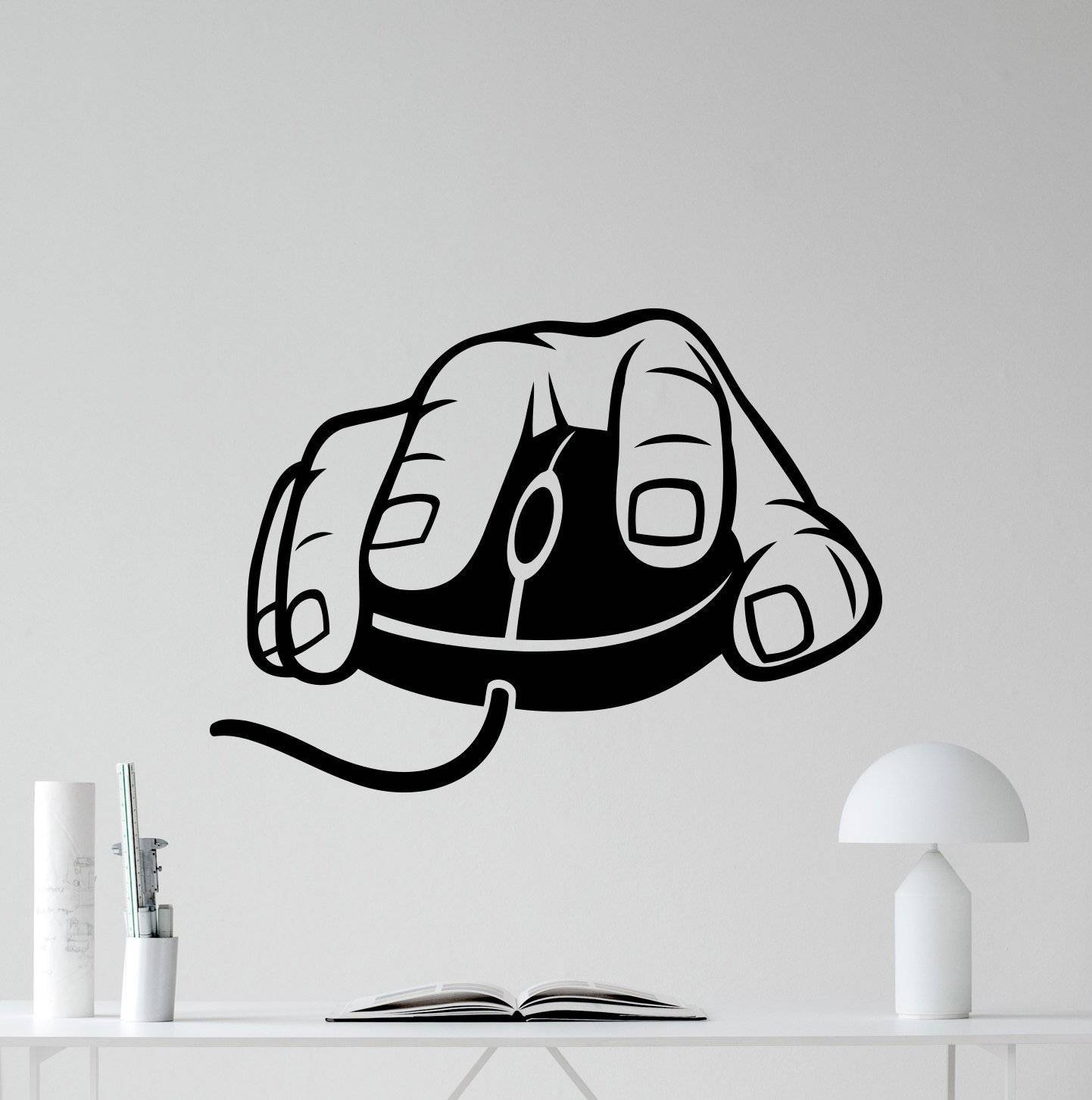 Aliexpress : Buy Computer Mouse Wall Decal Gaming Gamer Video With Most Popular Video Game Wall Art (View 1 of 30)