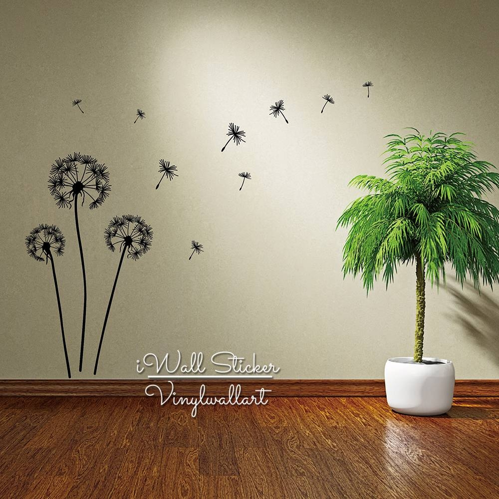 Aliexpress : Buy Dandelion Wall Sticker Dandelion Flower Wall For Current Modern Vinyl Wall Art (View 1 of 14)