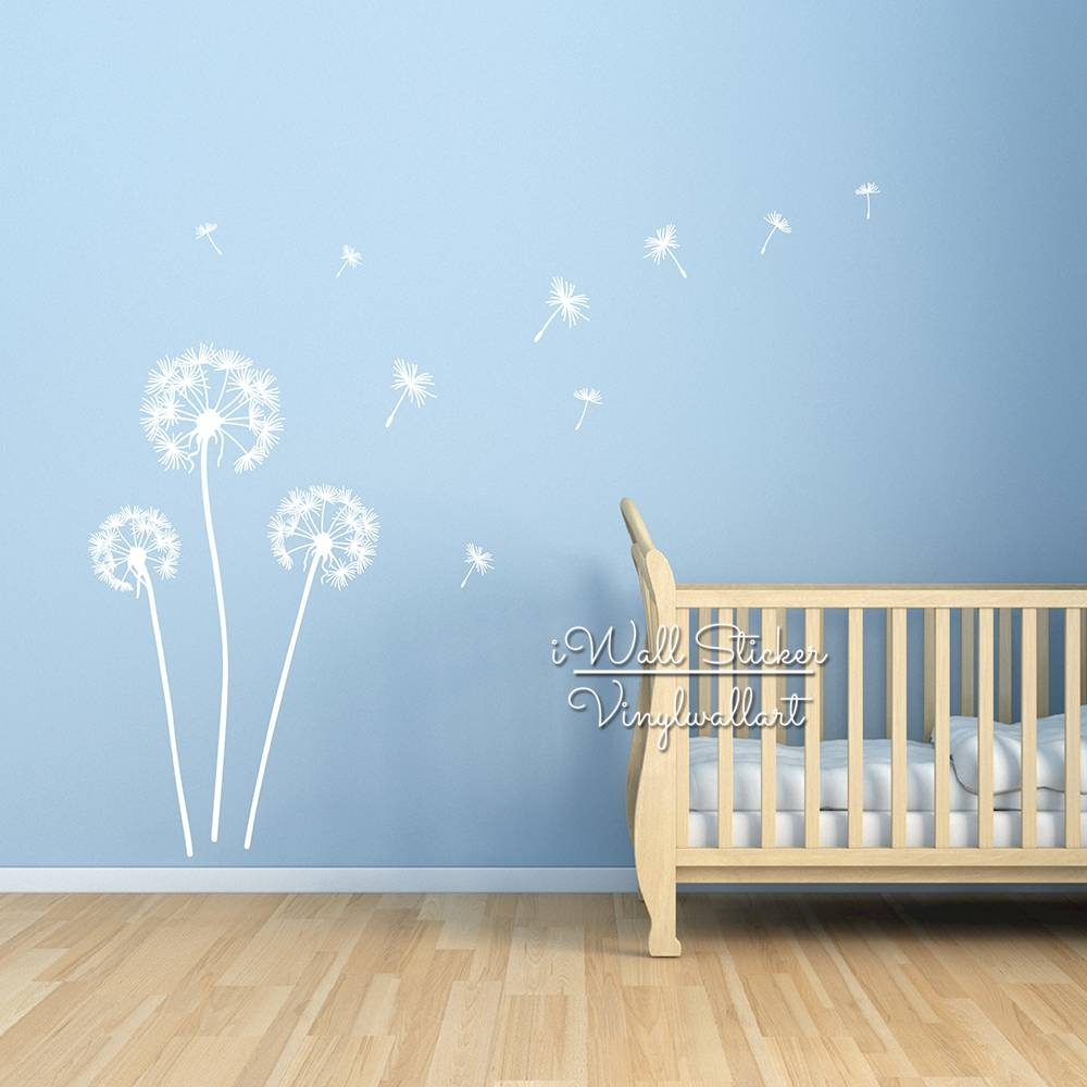 Aliexpress : Buy Dandelion Wall Sticker Dandelion Flower Wall Inside Most Up To Date Modern Vinyl Wall Art (View 3 of 14)