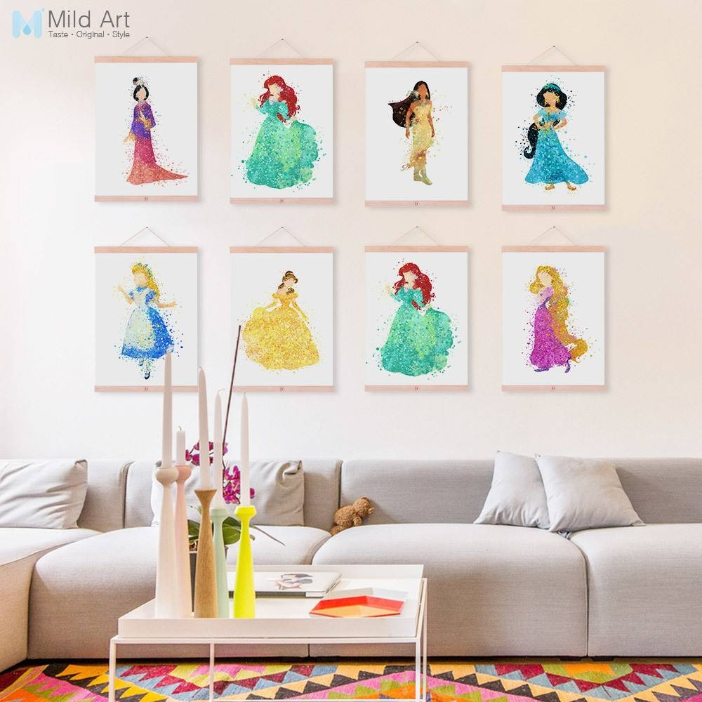 Aliexpress : Buy Disney Princess Snow White Ariel Aurora Throughout Most Recent Disney Princess Framed Wall Art (View 8 of 20)