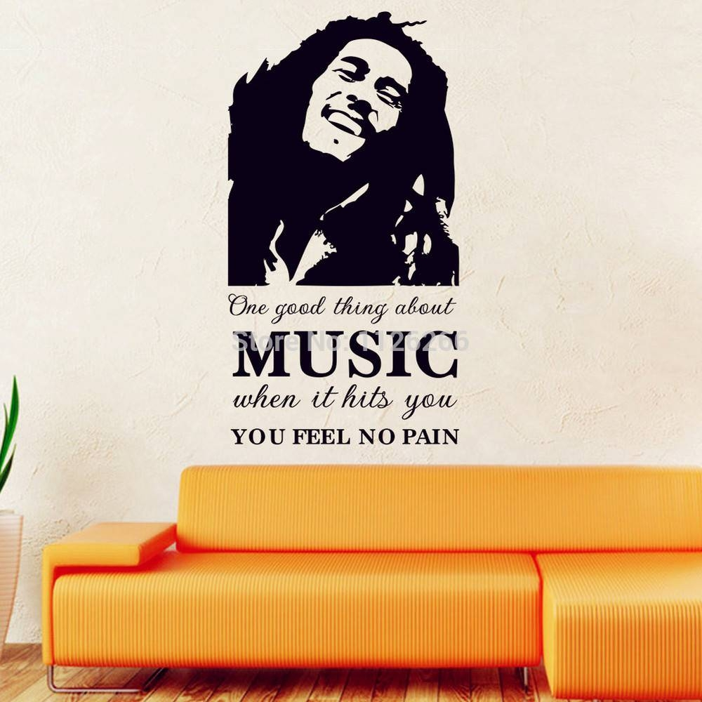 Aliexpress : Buy Famous Pop Stars Bob Marley Art Decal Wall With 2018 Bob Marley Wall Art (View 4 of 30)