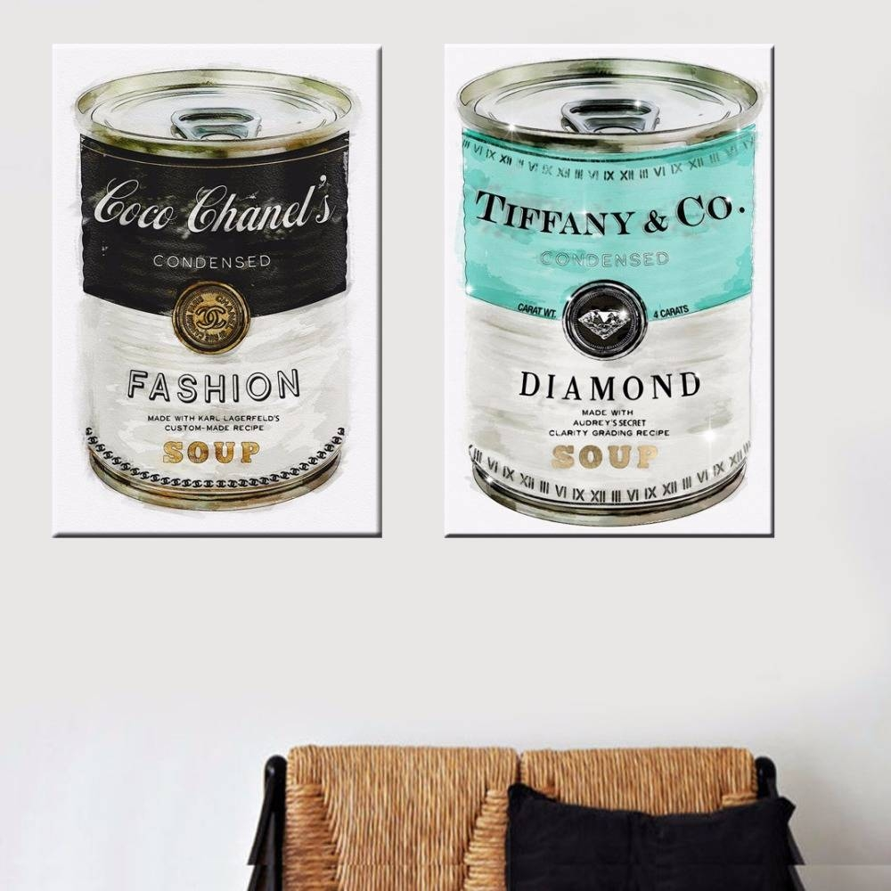 Aliexpress : Buy Fashion Soup Canvas Artoliver Gal Printed Intended For 2017 Tiffany And Co Wall Art (View 14 of 30)