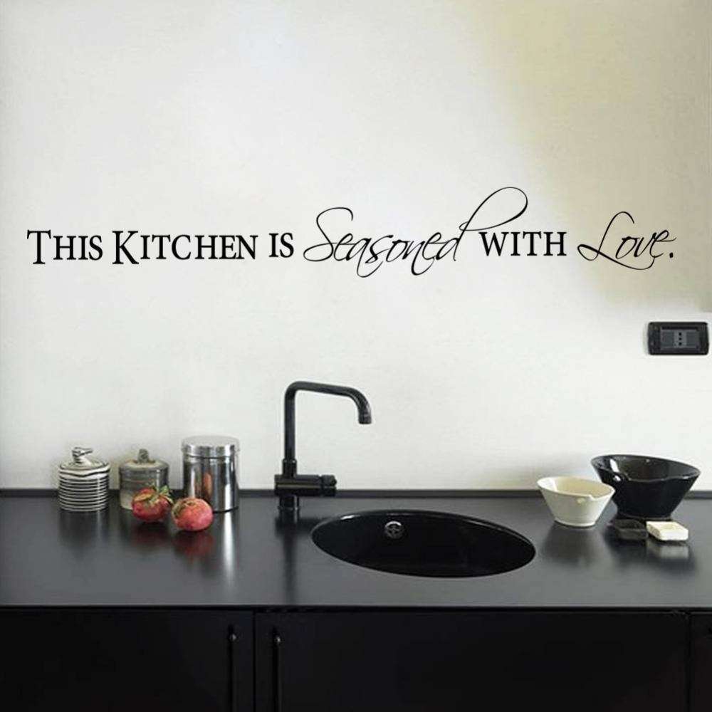 Aliexpress : Buy Free Shapping Diy Wall Stickers Kitchen Decal With Regard To 2018 3D Wall Art For Kitchen (View 2 of 20)