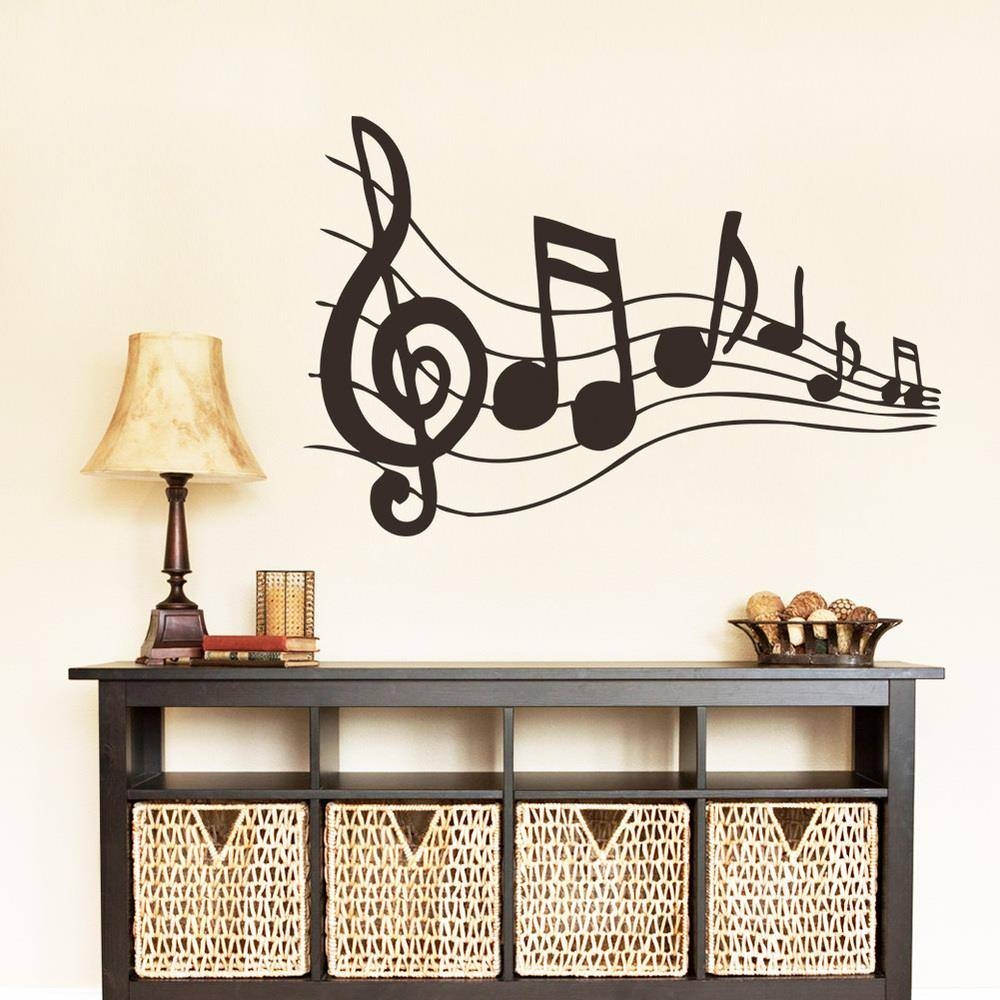 Aliexpress : Buy Free Shipping Music Note Wall Sticker With Regard To 2018 Metal Music Notes Wall Art (View 8 of 20)