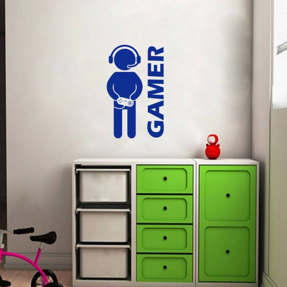 Aliexpress : Buy Gamer Wall Sticker Video Game Art Wallpaper Pertaining To Latest Video Game Wall Art (View 2 of 30)