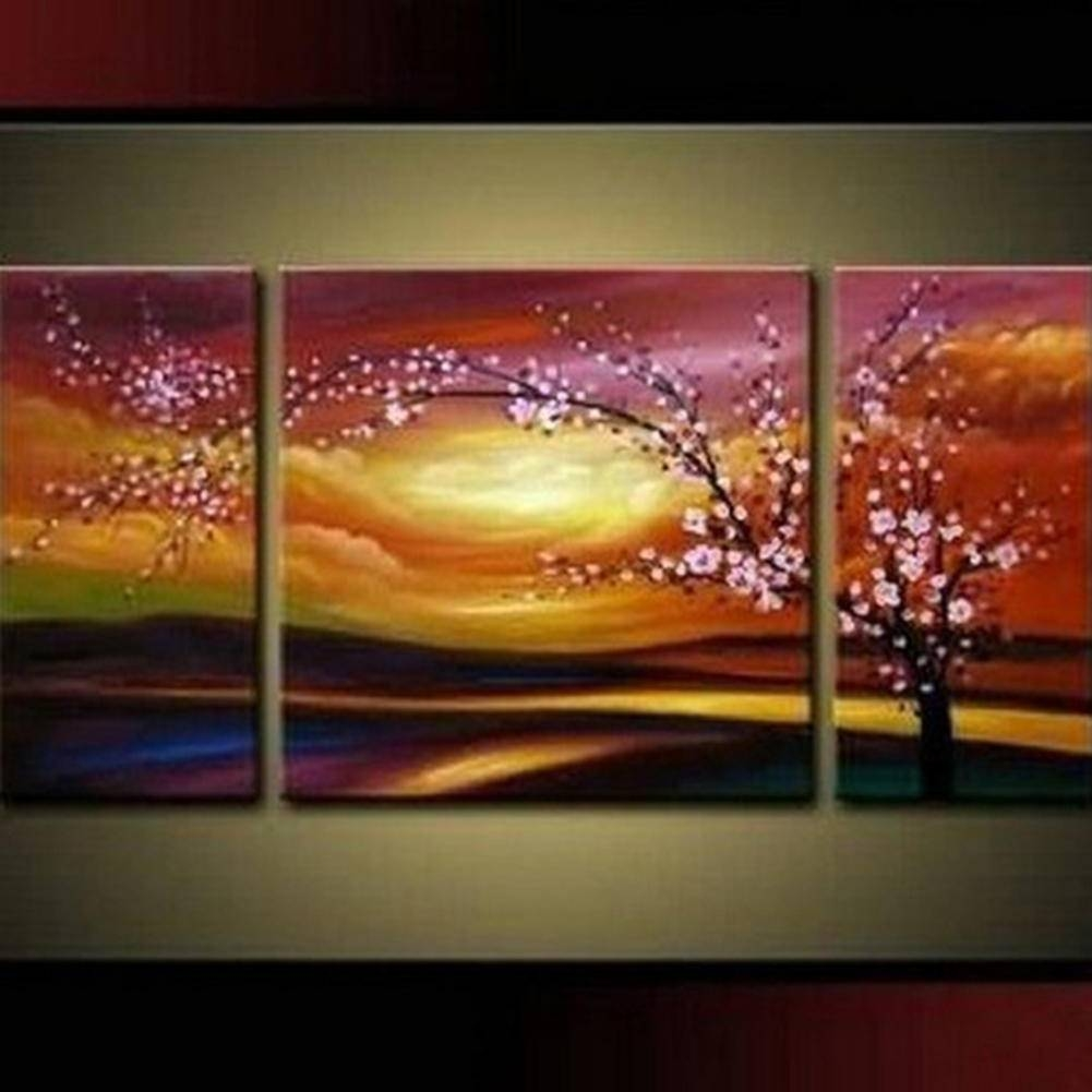 Aliexpress : Buy Hand Painted Oil Painting Abstract Landscape Pertaining To Most Popular Wall Art Multiple Pieces (View 6 of 20)