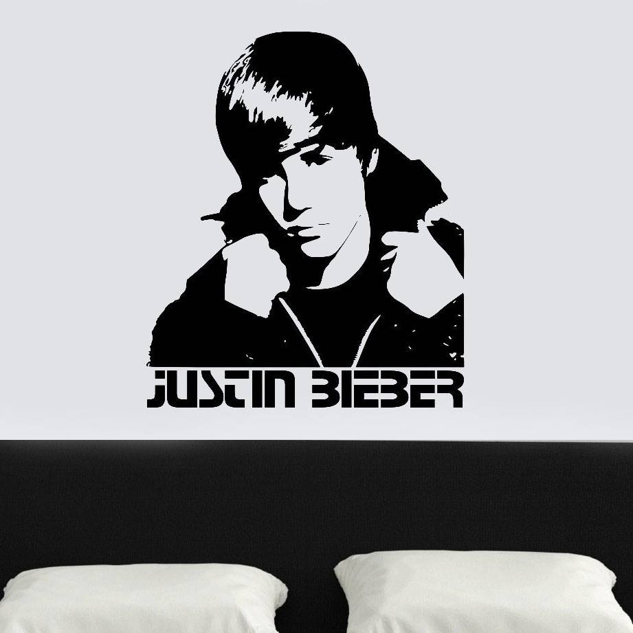 Aliexpress : Buy Home Decor Justin Bieber Wall Sticker Bedroom For 2017 Justin Bieber Wall Art (View 3 of 20)