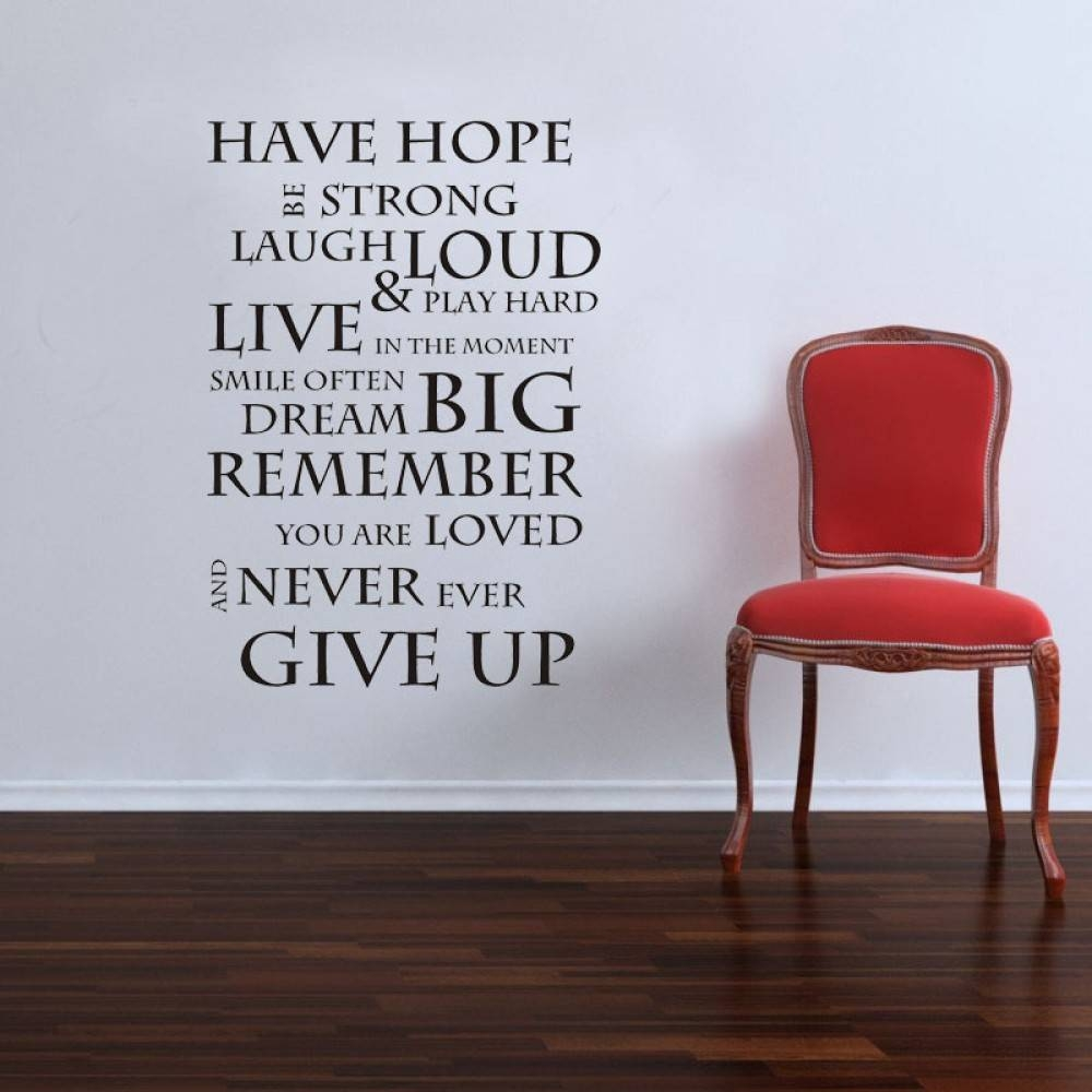 Aliexpress : Buy Inspirational Quote Wall Stickers Family Regarding Most Current Inspirational Sayings Wall Art (View 3 of 30)