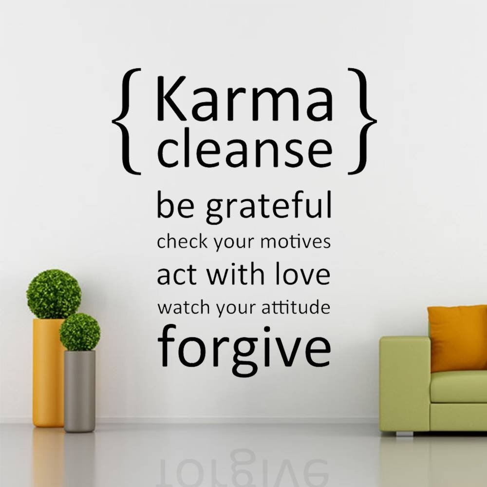 Aliexpress : Buy Karma Cleanse Happiness Decal Wall Decal Regarding Recent Bible Verses Wall Art (View 1 of 30)