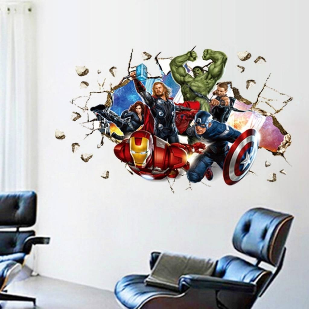 Aliexpress : Buy Movie 3D Wall Stickers Home Decor The Avengers With Most Recently Released Avengers 3D Wall Art (View 2 of 20)