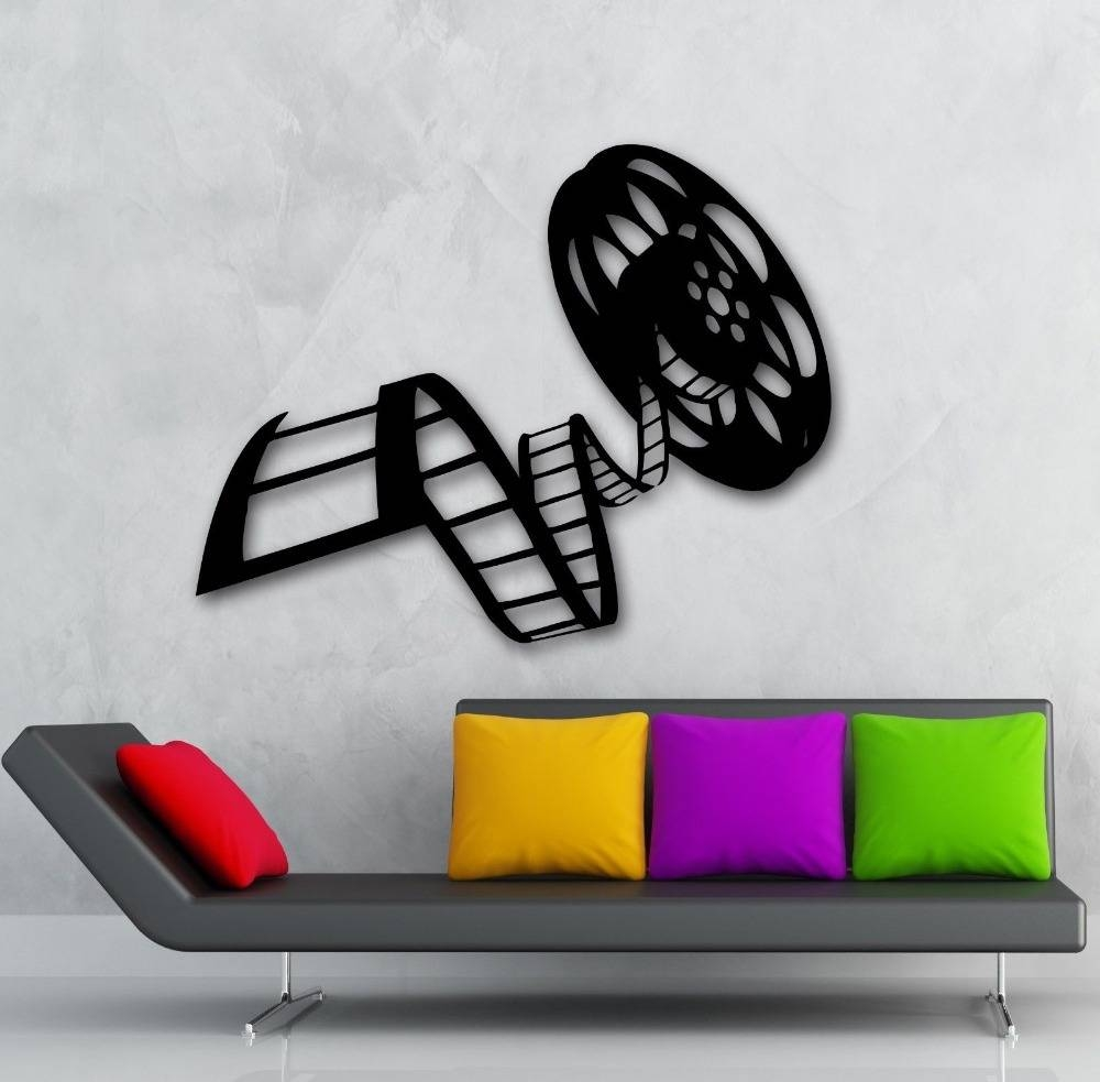 Aliexpress : Buy Movie Film Vinyl Wall Decal Reel Of Film Pertaining To 2017 Film Reel Wall Art (View 1 of 30)
