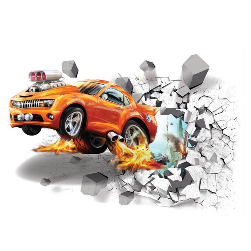 Aliexpress : Buy New Cartoon 3D Through The Brick Pixar Car Inside Most Popular Cars 3D Wall Art (View 7 of 20)