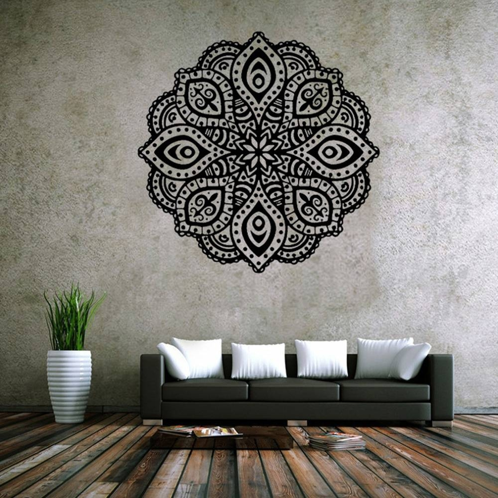 Aliexpress : Buy New Mandala Yoga Decal Vinyl Sticker Flower Regarding 2017 Art Deco Wall Decals (View 4 of 20)