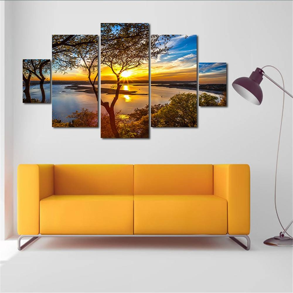 Aliexpress : Buy Oil Painting Huge Wall Art Unframed Sunset Within Most Recent Huge Wall Art (View 15 of 20)