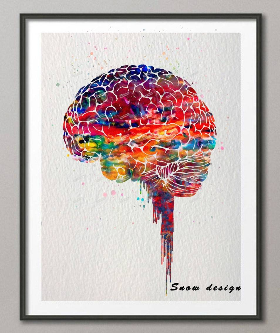 Aliexpress : Buy Original Watercolor Brain Poster Print Canvas With Regard To Recent Medical Wall Art (View 2 of 20)