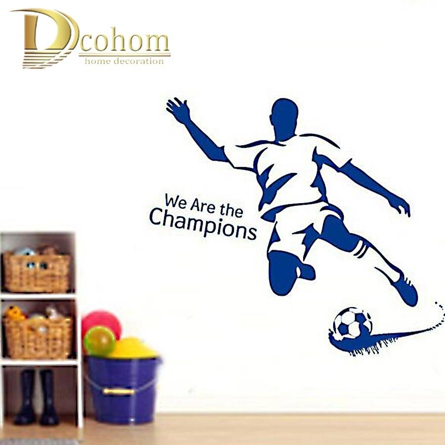 Aliexpress : Buy Personalized Football Player Vinyl Home Throughout Best And Newest Football 3d Wall Art (View 12 of 20)