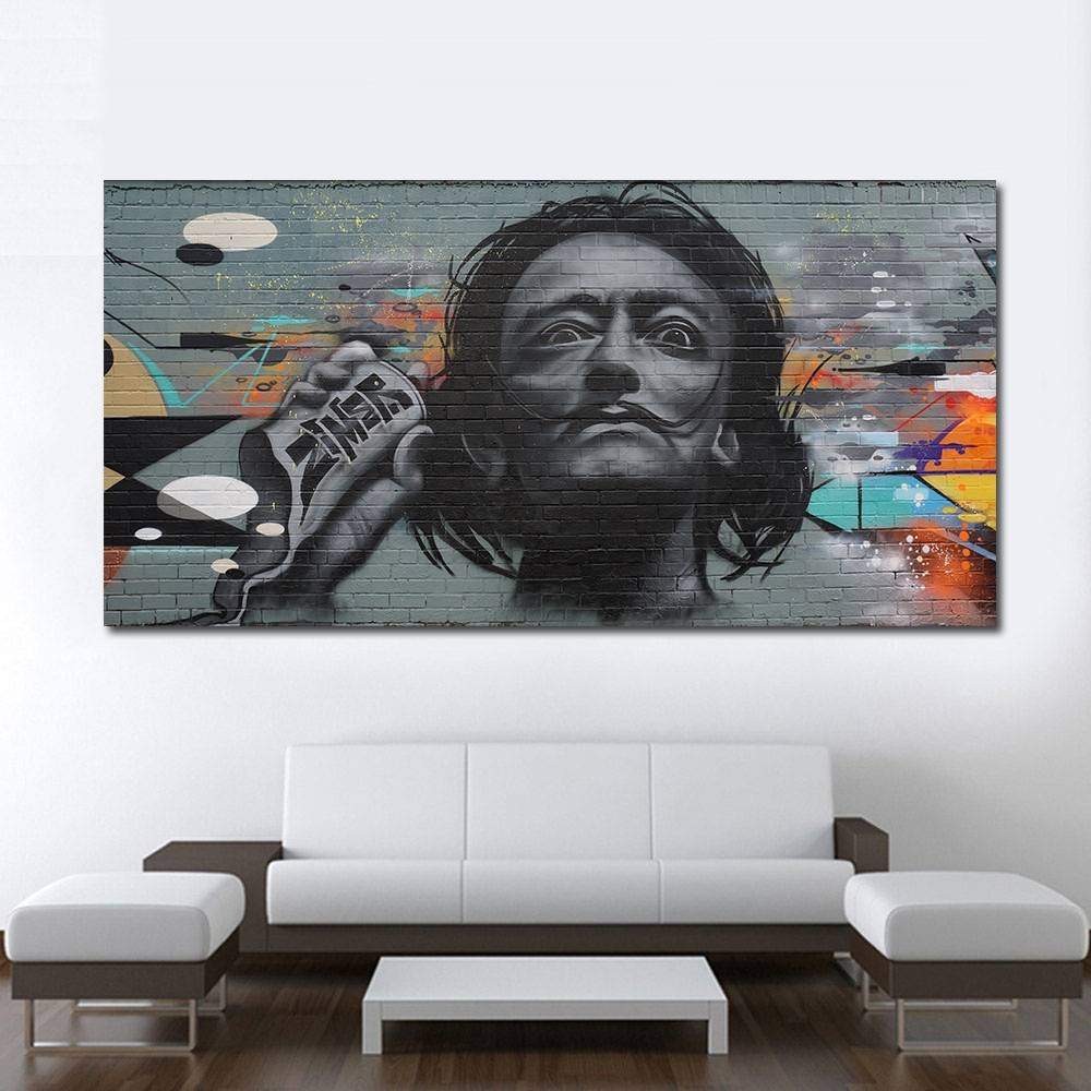 Aliexpress : Buy Qcart Wall Pictures For Modern Living Room Pertaining To Current Salvador Dali Wall Art (View 10 of 20)