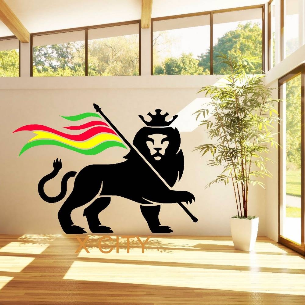 Aliexpress : Buy Rasta Lion Rastafari Lion Of Judah Bob Marley Inside 2018 Bob Marley Wall Art (View 5 of 30)