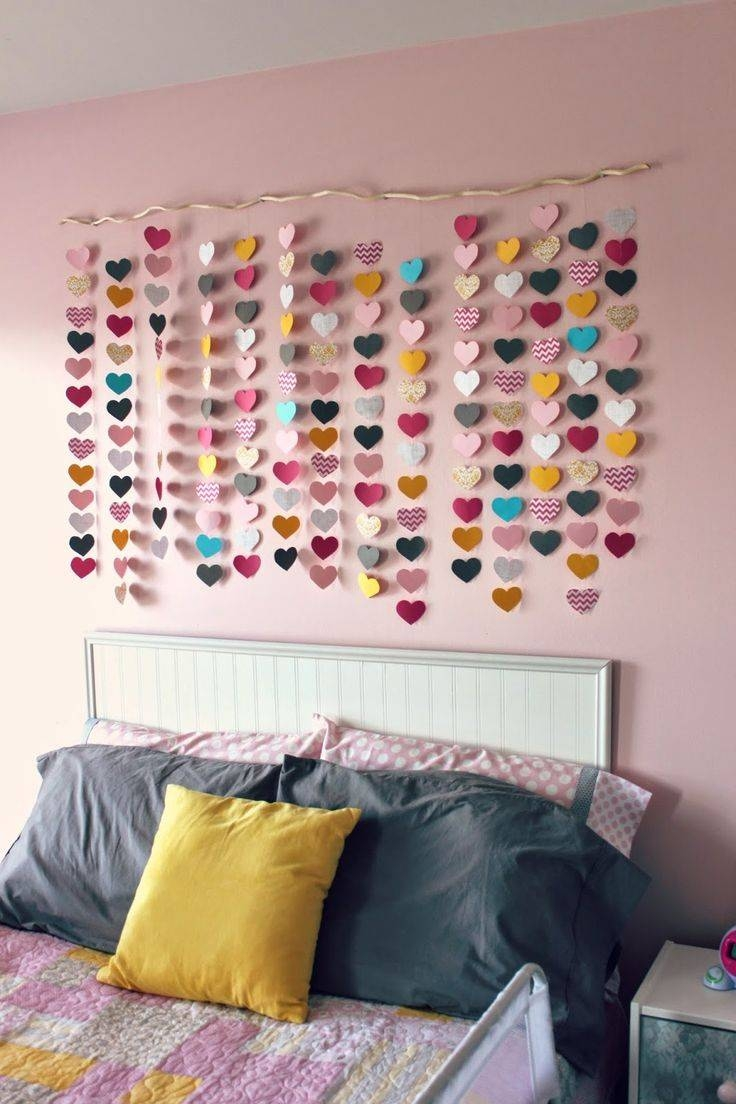All Things Diy: Room Reveal ~ Girl's Bedroom On A Budget With Regard To Most Popular Pinterest Wall Art Decor (View 8 of 25)
