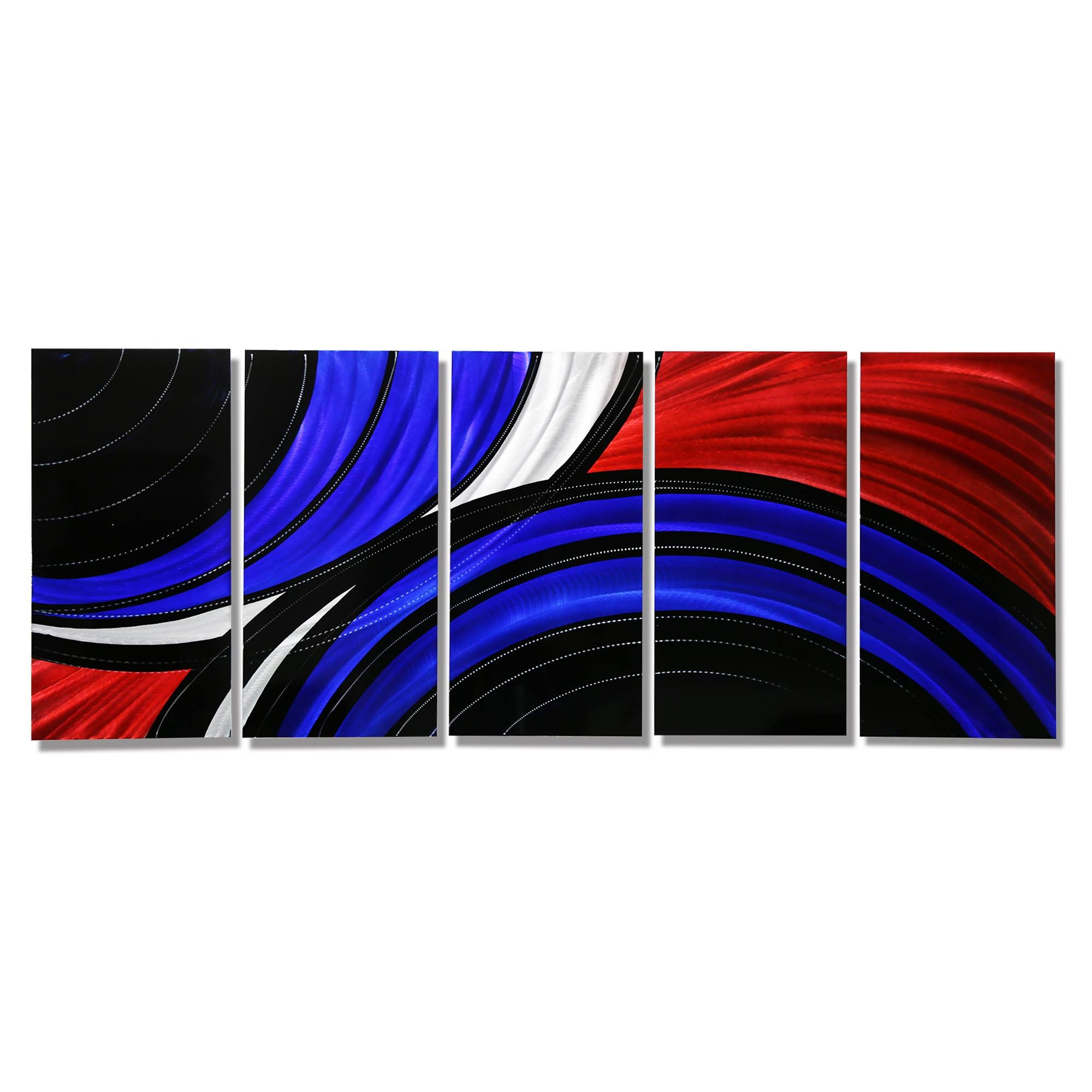 Allegiant – Extra Large Abstract Red, Blue & Black Modern Metal Throughout Most Current Large Abstract Metal Wall Art (View 8 of 20)