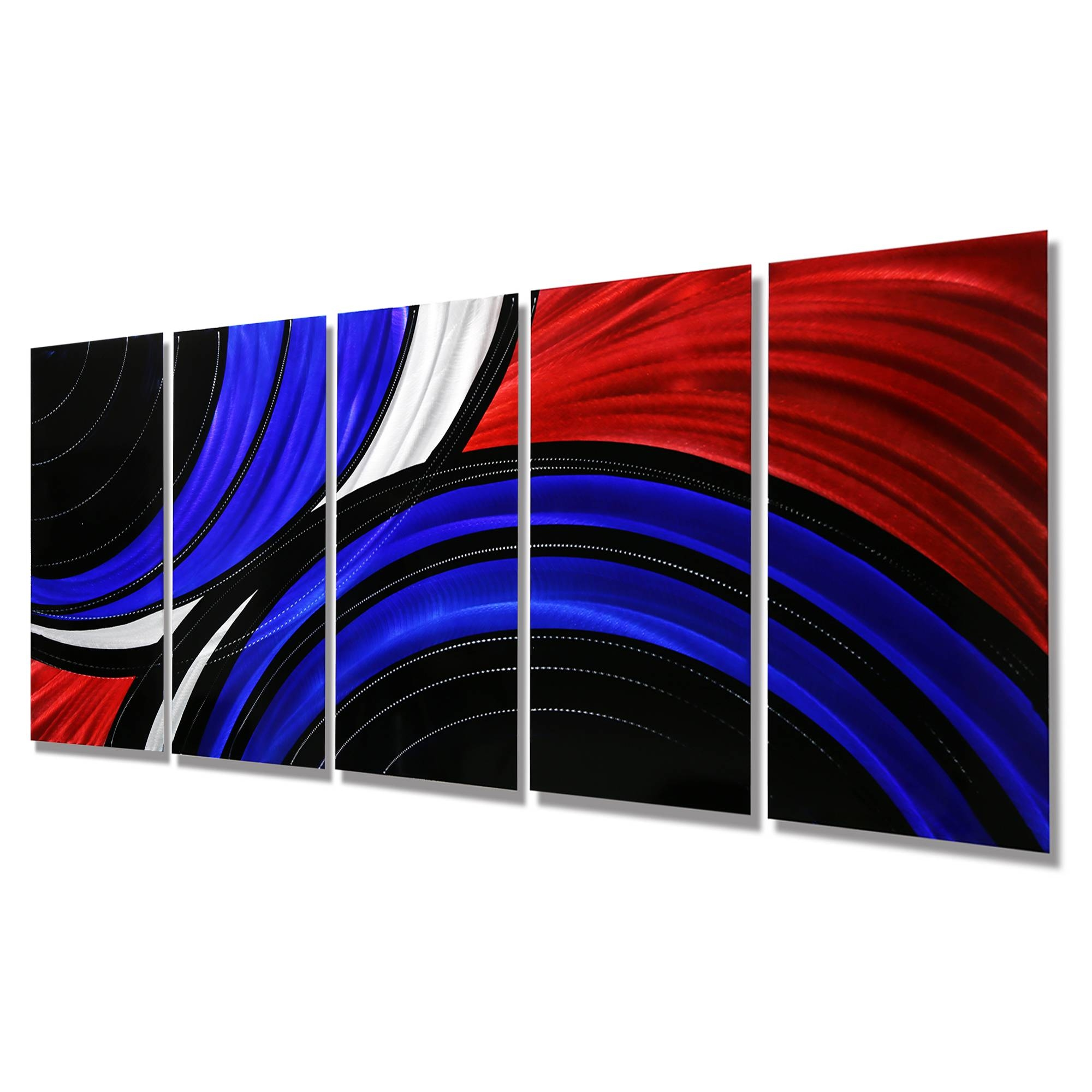 Allegiant – Extra Large Abstract Red, Blue & Black Modern Metal With 2018 Blue And Silver Wall Art (View 15 of 20)